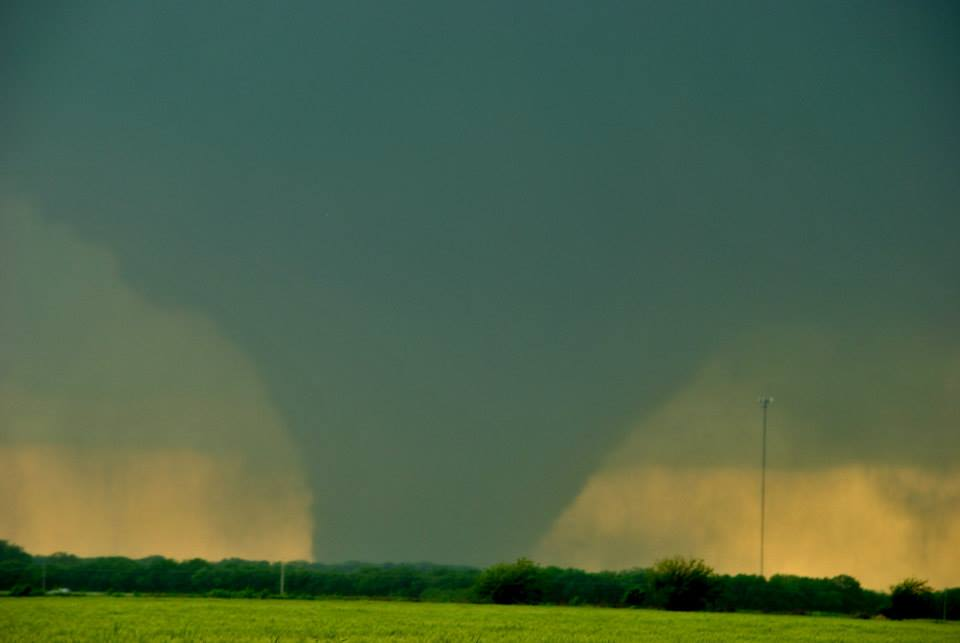 The wedge tornado that was just west of Bennington, KS. Photo by Ilea Schneider.