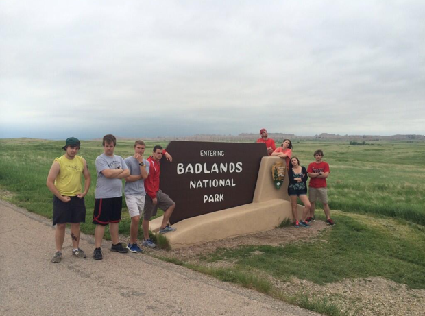 Being bad in Badlands National Park.