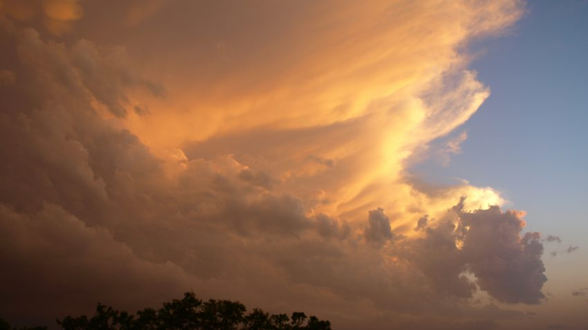 Figure 4: A vivid sunset lights up a southern supercell