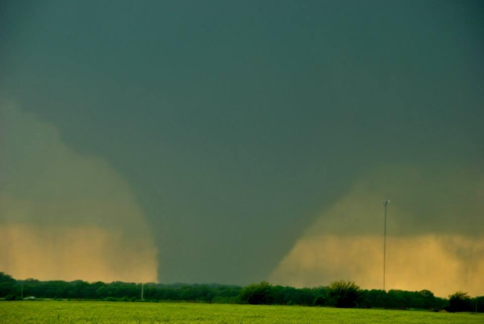 The wedge tornado that was just west of Bennington, KS. Photo by Ilea Schneider.