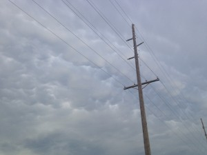 Mammatus clouds near Malta, Montana