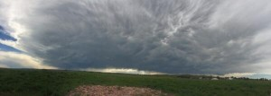 Storm as viewed from Lusk, WY