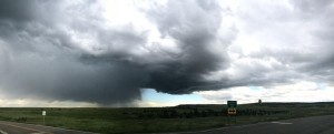 Second storm we chased for the day north of Trinidad, CO