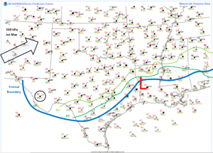 Surface analysis valid for 1400 Z