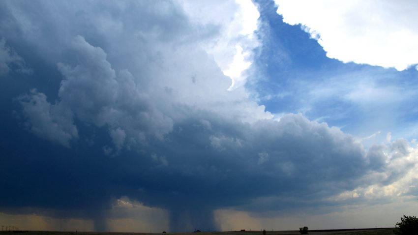Figure 2: Convective initiation west of Marienthal, KS
