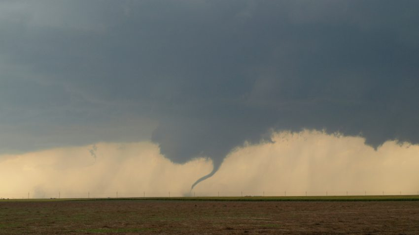 Figure 2: A rope tornado forms from the Minneola cell